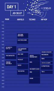 Airfield Festival program ziua 1
