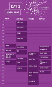 Airfield Festival program ziua 2