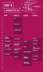 Airfield Festival program ziua 4